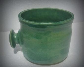 Shave Mug Turquoise Haze