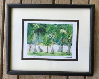 Vintage Palm Print, Vintage Palm Tree, Palm Tree Print, Framed Print