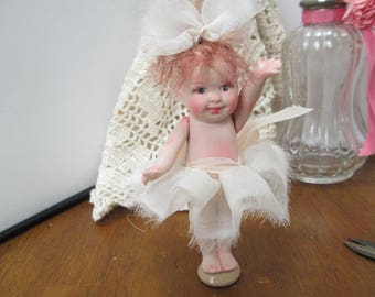 porcelian collectable artist made art doll