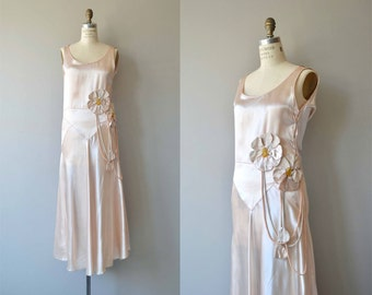Effleurer dress | vintage 1920s dress | antique 20s silk dress