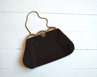 Gala Night evening bag | vintage 1930s beaded purse | 30s evening bag
