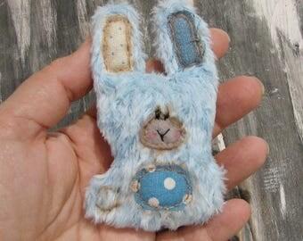 Blue bunny Rabbit Ornie by Woollybuttbears
