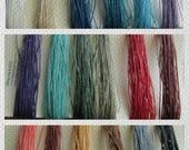 TWO PLY Pick FIVE Waxed Irish Linen, Five 5 Yard or Five 10 Yard Cuts Two Ply, Linen Thread, Linen cord, Waxed Linen, 2 ply, Waxed Linen