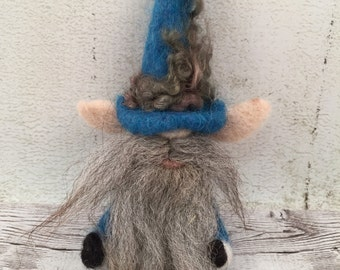 Gnome Ornament - Needle Felted - Gnome Art - Holiday Decorations - Handmade Christmas - Christmas Ornament - Nisse Ornament
