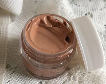 tinted moisturizer Argan Oil Goat Milk BB Cream | CARAMEL skin tones | silk beauty balm | Hemp + Mango Butter | safe foundation dark skin