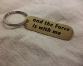 Star Wars Rogue One inspired Double Sided Etched Brass Keychain