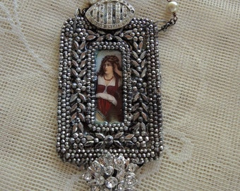 Repurposed Assemblage Necklace - Gypsy Woman