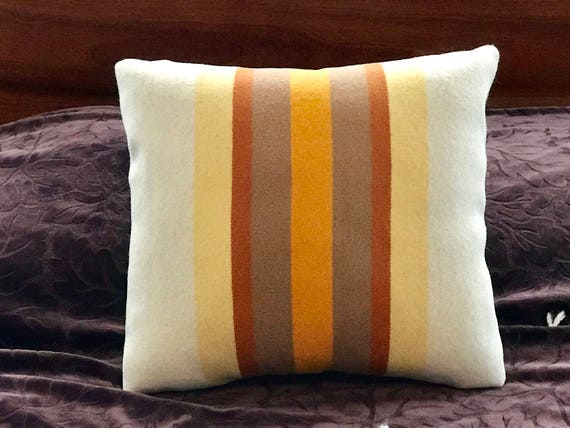 Wool Decorative Pillow / Accent Pillow / Rustic Pillow