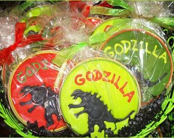 Godzilla Cookies - 12 Cookies