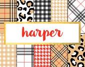 New! Harper Digital Paper Pack (Instant Download)