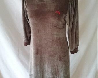 Vintage Jordache Velour Tunic Size Xsmall