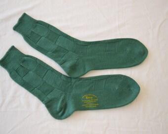 Vintage KROY Wool men's socks USA made 1950's new deadstock