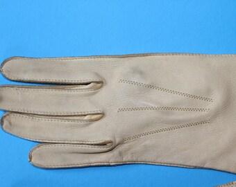 Vintage Deerskin Leather Women's Gloves, 1950's