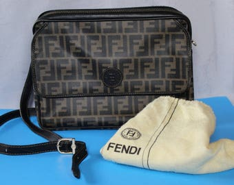 Vintage Leather Bag by Fendi with Dust Bag, 1990's