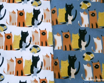 Japanese Fabric - Cat's Family - 2 Fat Quarter Bundle Set (ma170422)