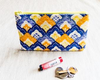 Fabric Zipper Pencil Case, Floral Pouch, Fabric Pouch, Pencil Pouch, Zipper Case, Cosmetic Bag, Pouch, School Supply, Floral Zipper Case