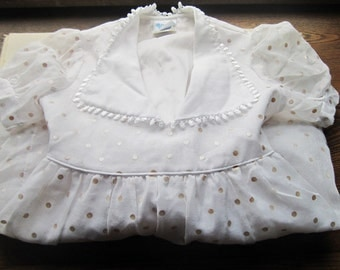 Vintage Girls Dress , Vintage Kids, Flower Girl Dress,  Little Girls Party Dress , Childrens VTG Designer Clothes , Bonnie Jean ,1970s 80's