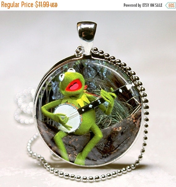 KERMIT THE FROG Rainbow Connection Banjo by jeanninesjewels