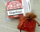 Gingerbread Sachets, Aroma beads, set of 2 highly fragranced organza bag sachets, scented sachet