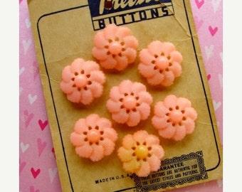 ON SALE Antique Pink Genuine Button Card
