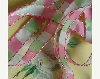 ONSALE Sweet Vintage Feminine Pink and Mint Green Girly Girl  Ribbon