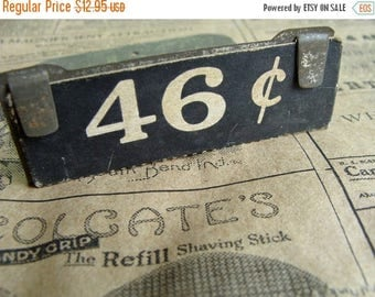 ON SALE One Antique Mercantile Industrial Price Display