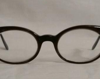 1968 vintage cat eye glasses, bifocals, Belle Himes