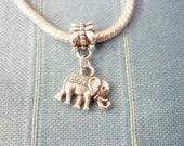 Exotic Elephant Add a Charm Bead- Silver Elephant Bohemian Charm