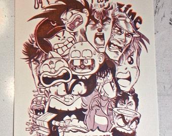 NEW Shonen Bootleg! 2 Color Riso Print