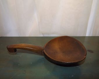 Antique Wooden Spoon Butter Scoop Scoop  Primitive 1800s