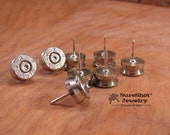 Bullet Jewelry - Bullet Casing Push Pins or Thumbtacks - Gift for Dad - Office / Mancave - Gift for Guy - Gifts Under 20 - Stocking Stuffers