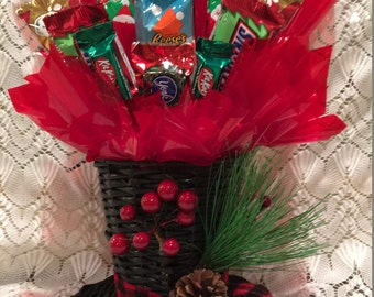 Christmas Snowman Hat Candy Arrangement