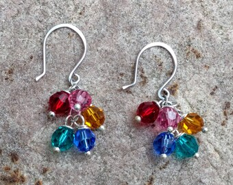 Family Birthstone Earrings~FREE SHIPPING!