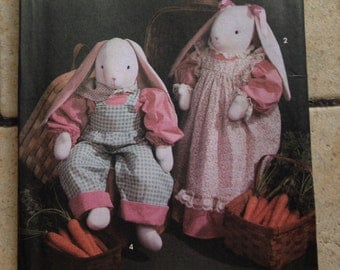 Simplicity 7599 Bunny and Clothes Craft Pattern UNCUT
