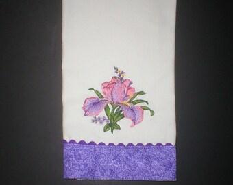 Iris dish towel