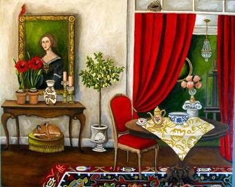 Fine Art Print  Ophelia's Atelier by Catherine Nolin