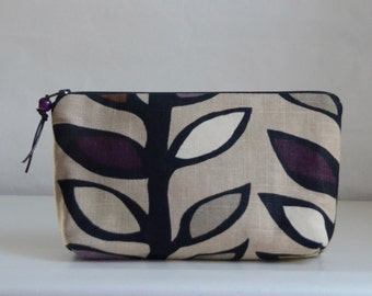 Oslo Amethyst Wide Padded Zipper Pouch Gadget Case Cosmetics Bag - READY TO SHIP