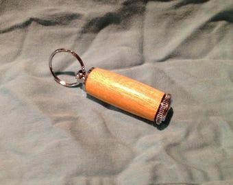 Osage Orange Medicine Holder Keyring