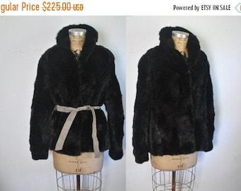 25% OFF Black Mink Jacket / genine fur Coat / S-M