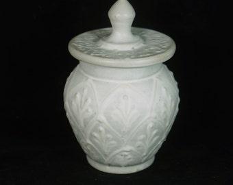 Elegant White Jar, Storage Jar, Decorative Jar,  Cannister , Vanity Jar, White Pottery Handmade pottery