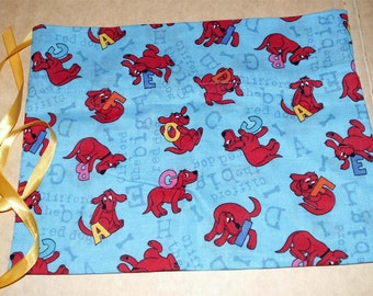 Pet Puppy Treat Bag 100% Cotton Fabric Clifford Big Red Dog