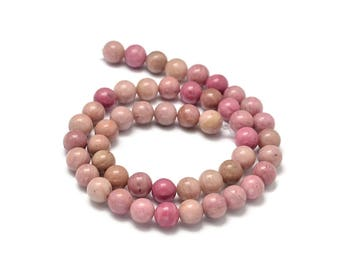 Natural Pink Wood Lace Stone Beads Strands 6 or 8mm Round