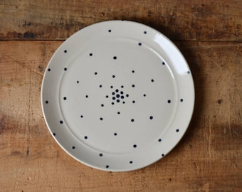 SALE! Salad plate in Dots (flared edge) Ready To Ship