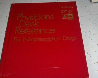 SALE Physicans Desk Reference For Nonprescription Drugs Book 1980 First Edition