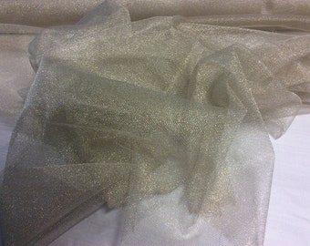 Gold sparkle net fabric material bridal wedding dance by the metre