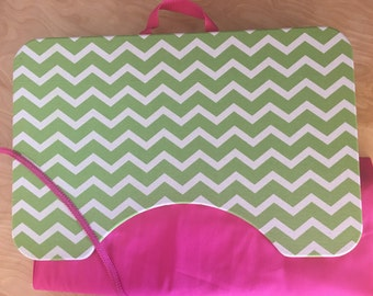 Bright and Cheery Lime and Pink Large Lap Desk