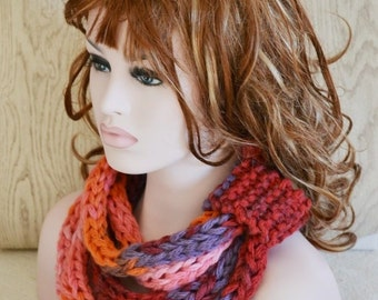 Knitted Super Chunky Rope Neckwarmer