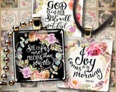 1x1 inch (25mm) Printable BIBLE VERSES square images for pendants and craft downloadable sheets print-it-yourself ArtCult digital goods