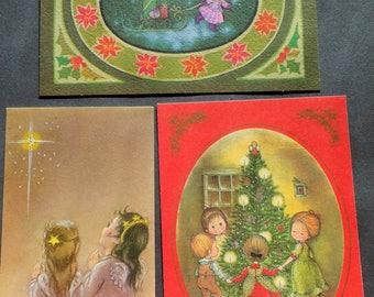 Vintage 1960s Christmas Eve Rockwell Anneliese and Evan Lattimer Illustrators Modern Classics