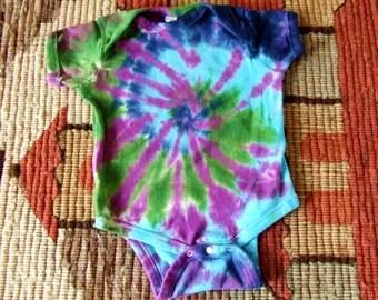 12m Tie Dye Baby Onesie - Mystic Swirl - Ready to Ship